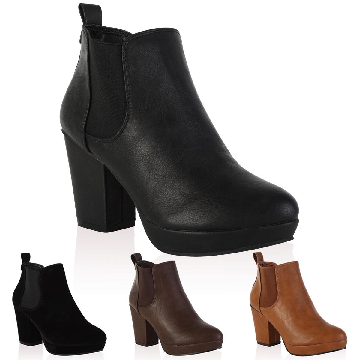 bottine chelsea pour femme avec plateforme talon carre chaussures