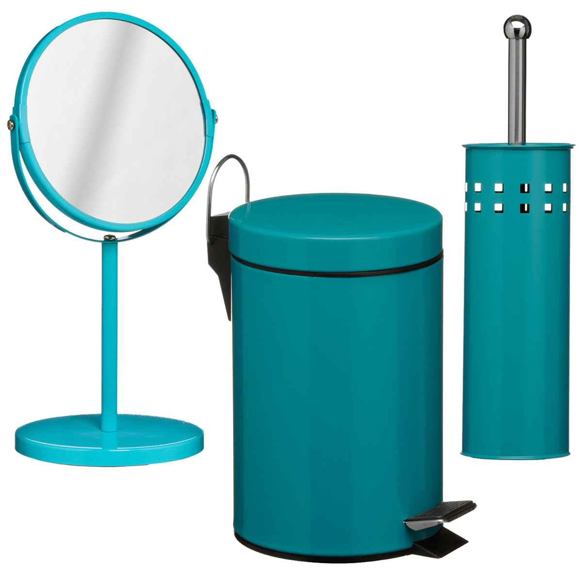 3 piece teal bathroom set unique home living for Teal bath sets