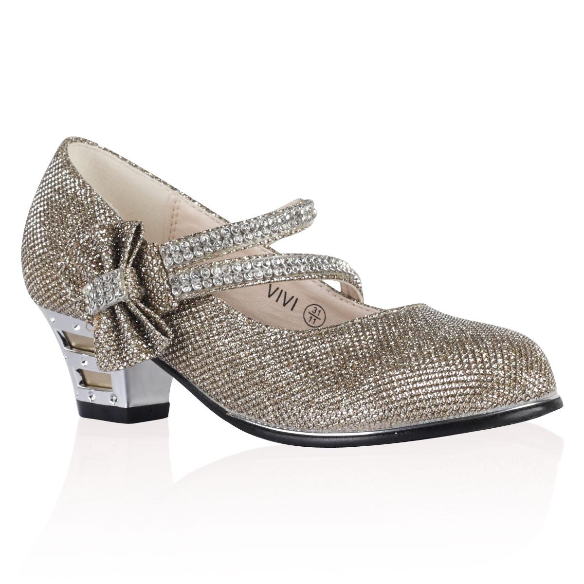 Kids Silver High Heels