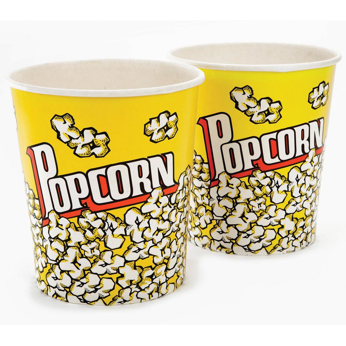 Set Of 2 Large Popcorn Tubs Unique Home Living