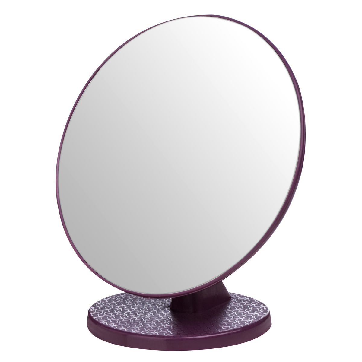 New premier bathroom stand alone small swivel beauty make for Stand up mirror