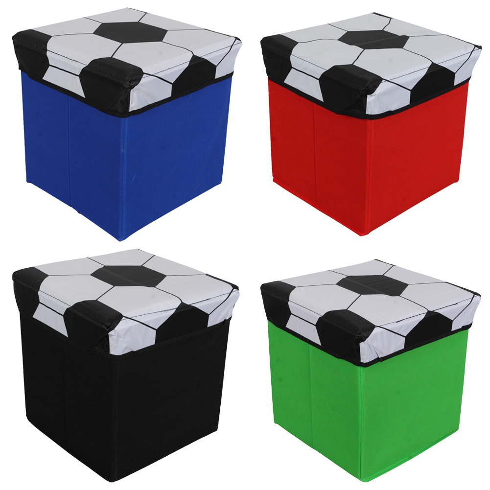 Cool Toy Box For Boys : Childrens football design storage box unique home living
