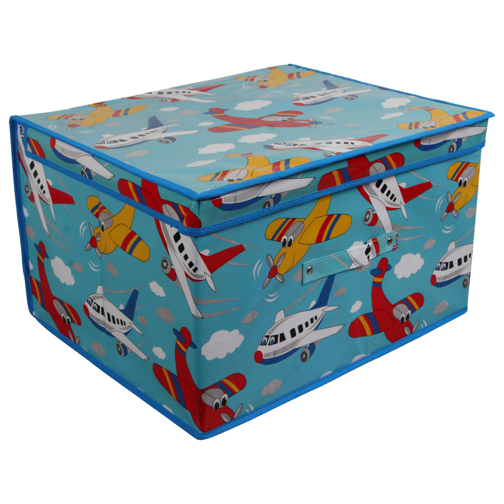 Cool Toy Box For Boys : Aeroplane design boys storage chest unique home living