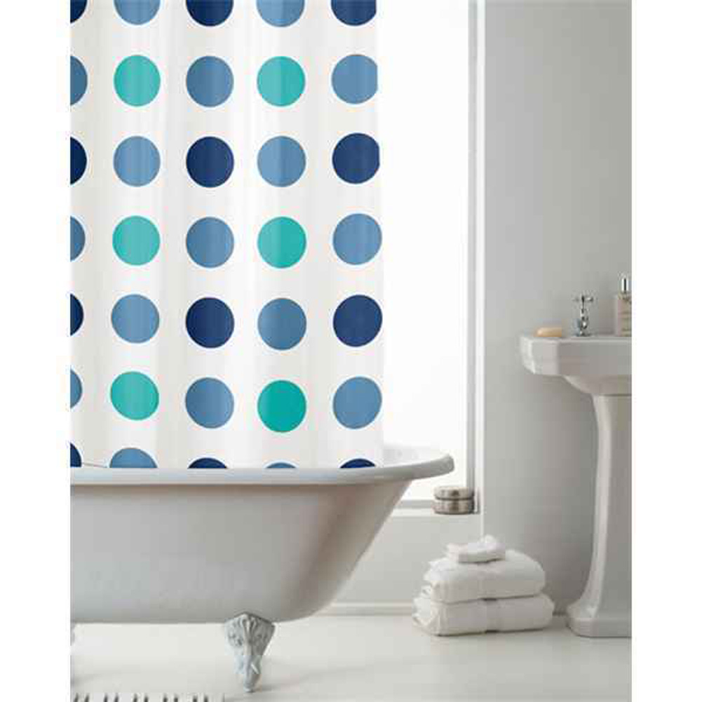 Cortinas De Baño Artesanales:Home Morn Makeover cuarto baño Cortina Baño Con Estampado Lunares