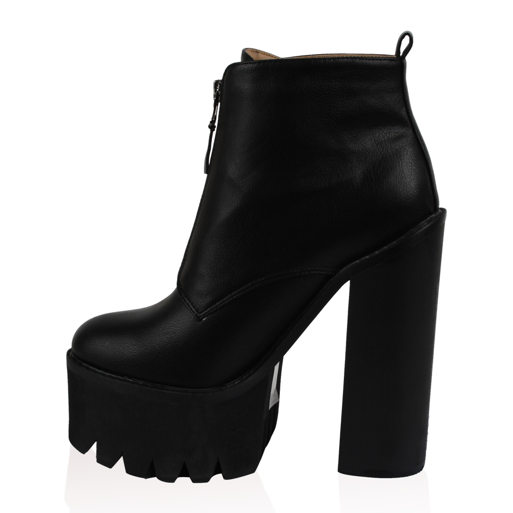 chaussure bottes a lacet talon compense avec semelles antiderapante femme t36 41 ebay. Black Bedroom Furniture Sets. Home Design Ideas