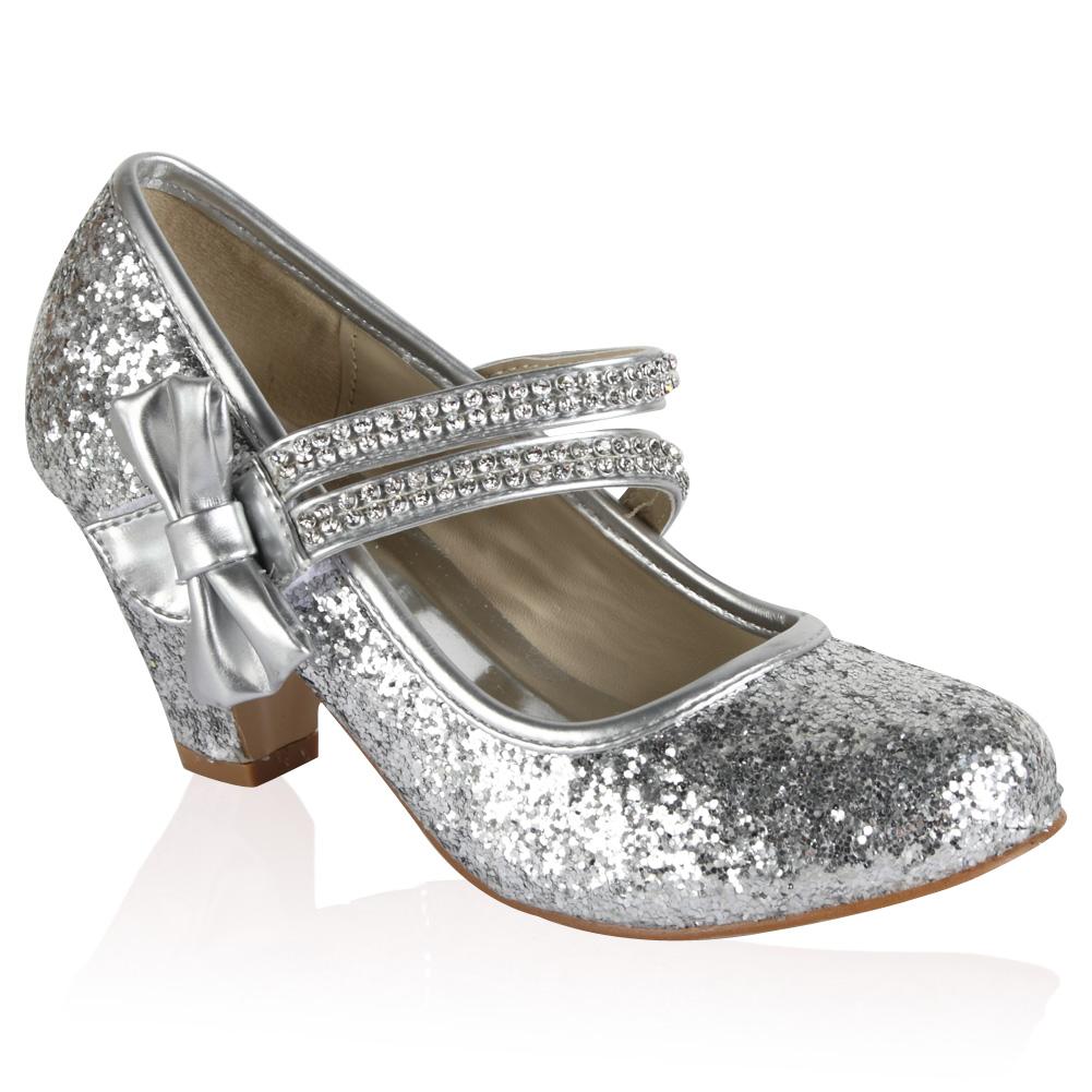 Childrens Silver Heels - Is Heel