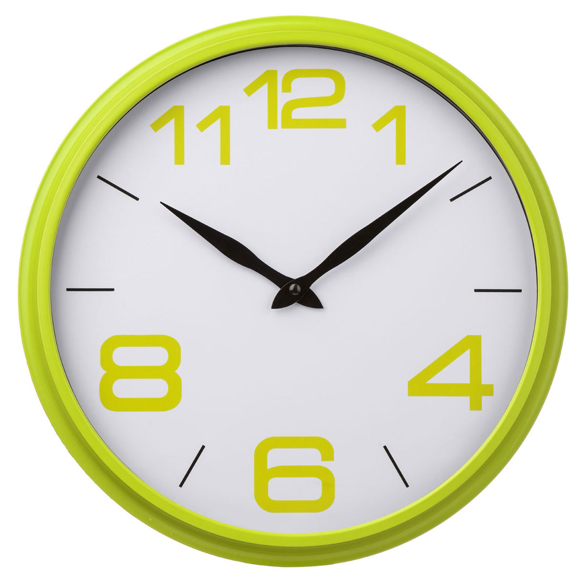 Lime green wall clock unique home living for Green wall clocks uk