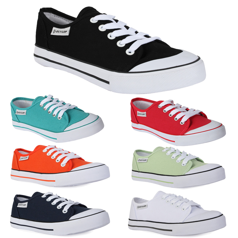 chaussure pour femme basket dunlop casual a lacet style converse tuile t 36 41 ebay. Black Bedroom Furniture Sets. Home Design Ideas
