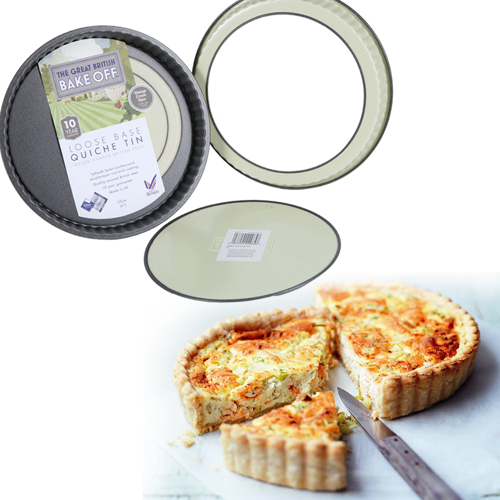 The Great British Bake Off Loose Base Quiche Tin Unique
