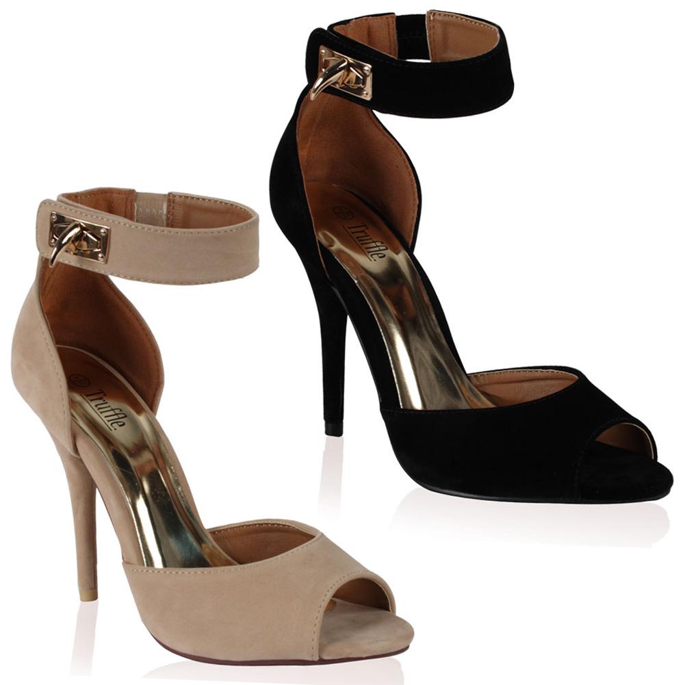 chaussure femme avec laniere a talon haut aiguille ouvert. Black Bedroom Furniture Sets. Home Design Ideas