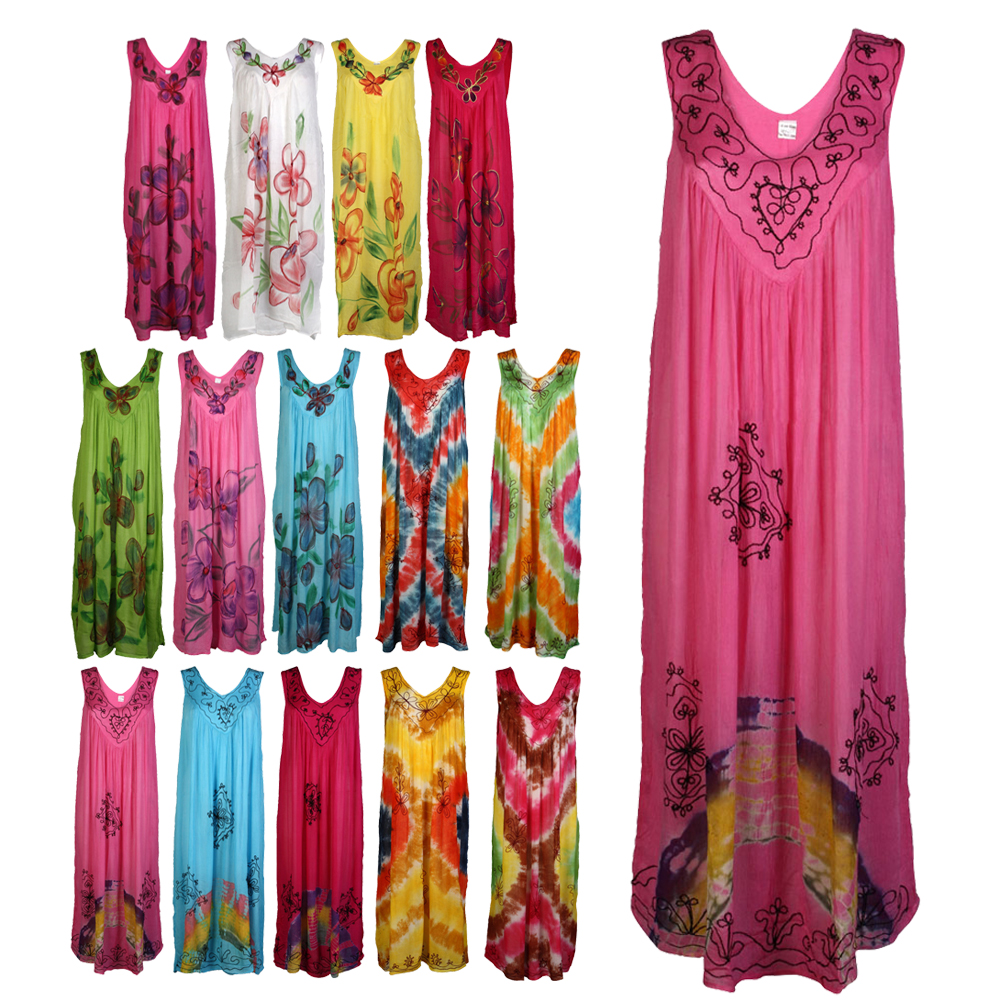 NEW WOMENS PRINTED LADIES SUMMER BEACH KAFTAN COVER UP MAXI LONG DRESS ONE SIZE