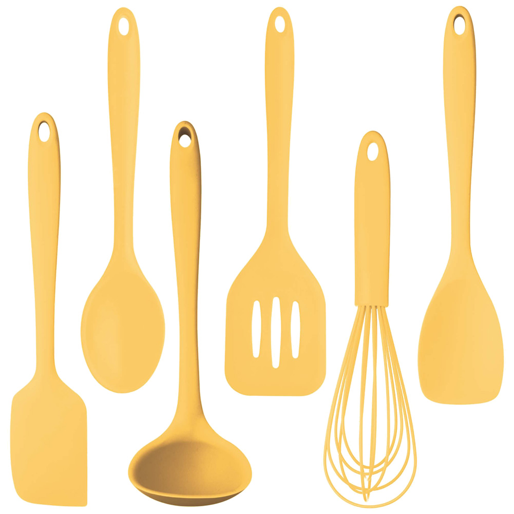 home kitchen cutlery tools pastel yellow 6 piece utensil