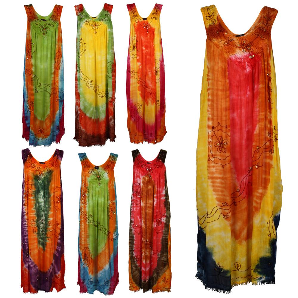17d womens tie dye kaftan cover up maxi