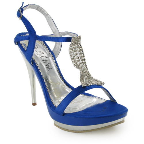 17u new blue high heel wedding shoes size 3 8 ebay