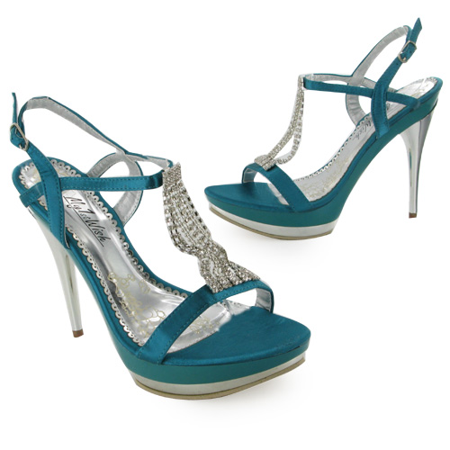 teal green wedding high heel prom shoes size 4 ebay