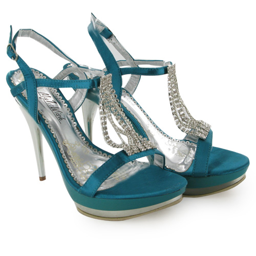 teal green wedding high heel prom shoes size 7 ebay
