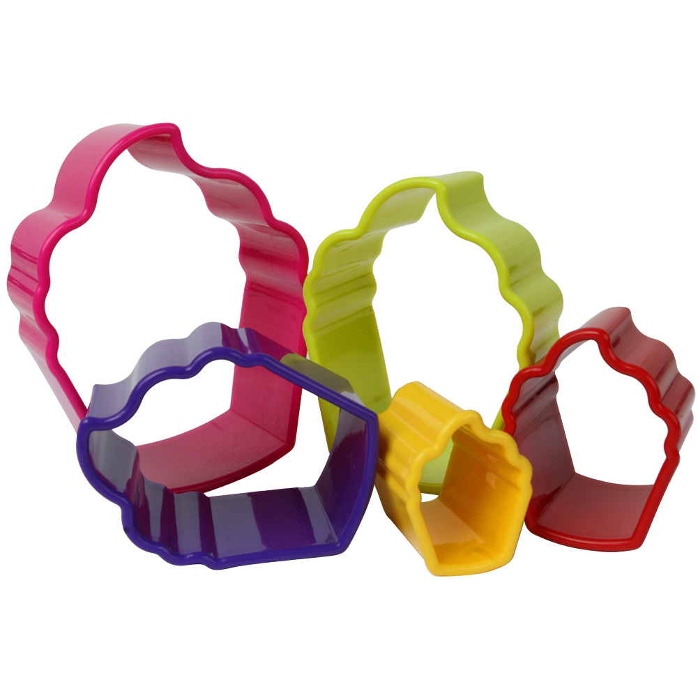 Set Of 5 Cupcake Cookie Cutters