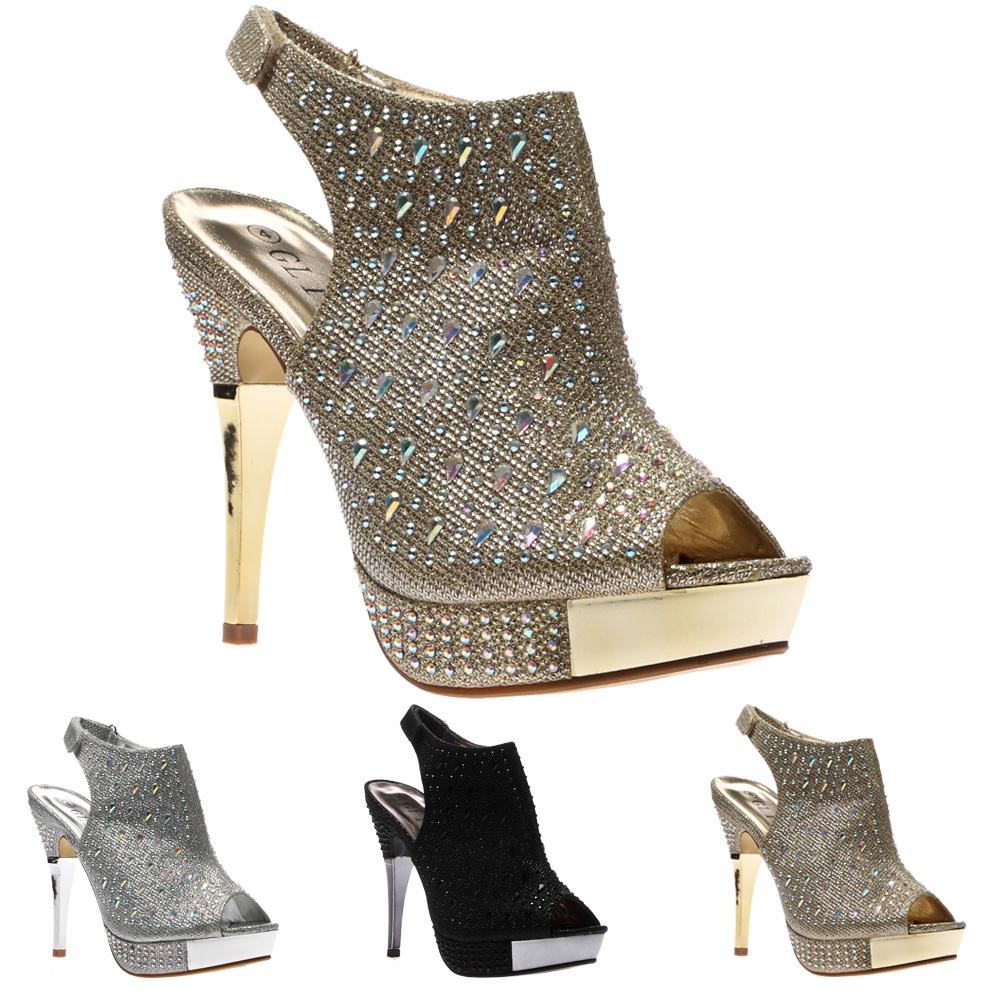 femmes escarpins sandales talon aiguille stiletto brillant. Black Bedroom Furniture Sets. Home Design Ideas