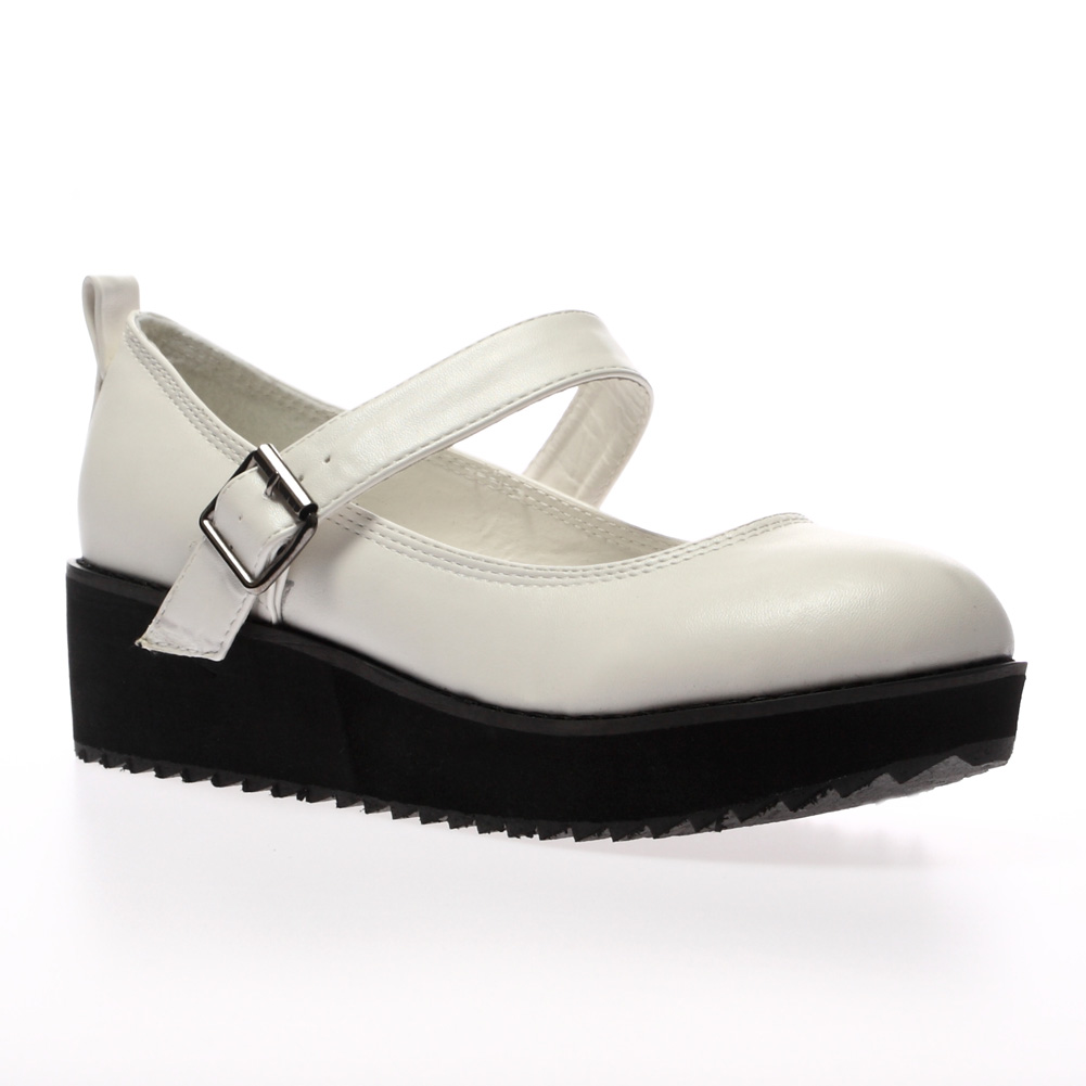 New-Ladies-Mary-Jane-Womens-Flatform-Cleated-Low-Platform-Sandals-Shoes-Size-5-1