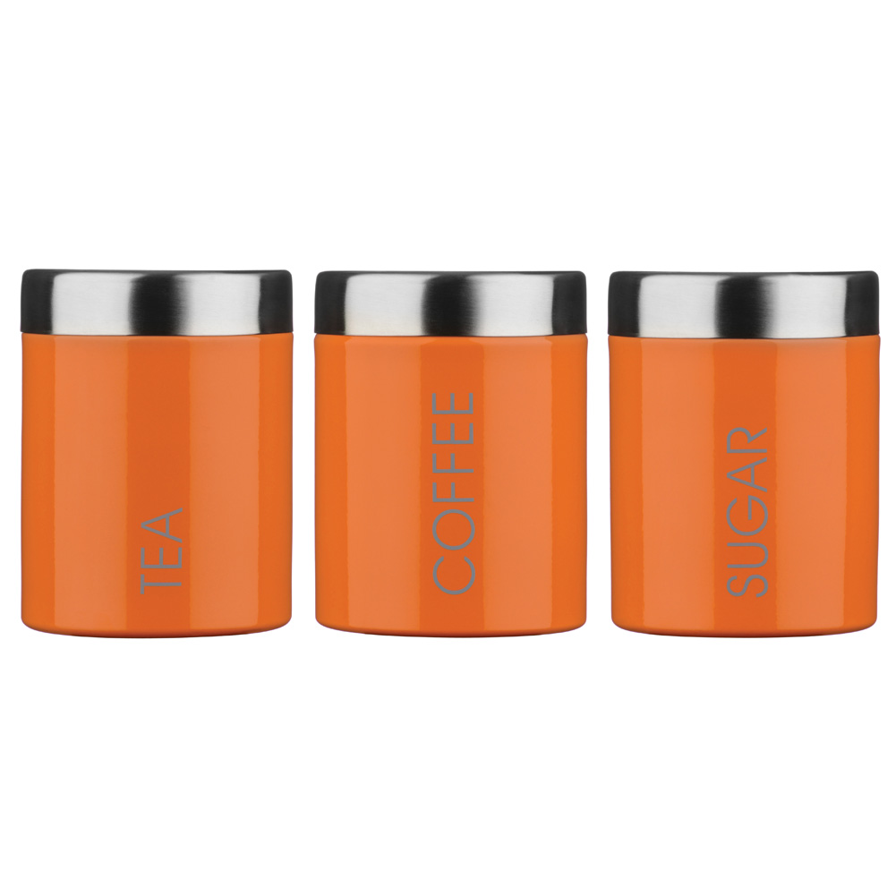 orange tea coffee and sugar canisters unique home living canister sets orange images