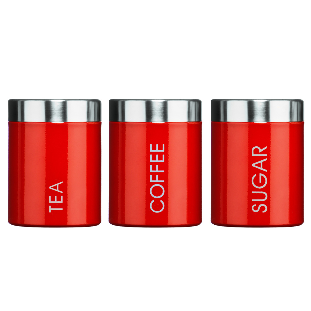 home gt trends gt bright ideas gt red tea coffee and sugar canisters