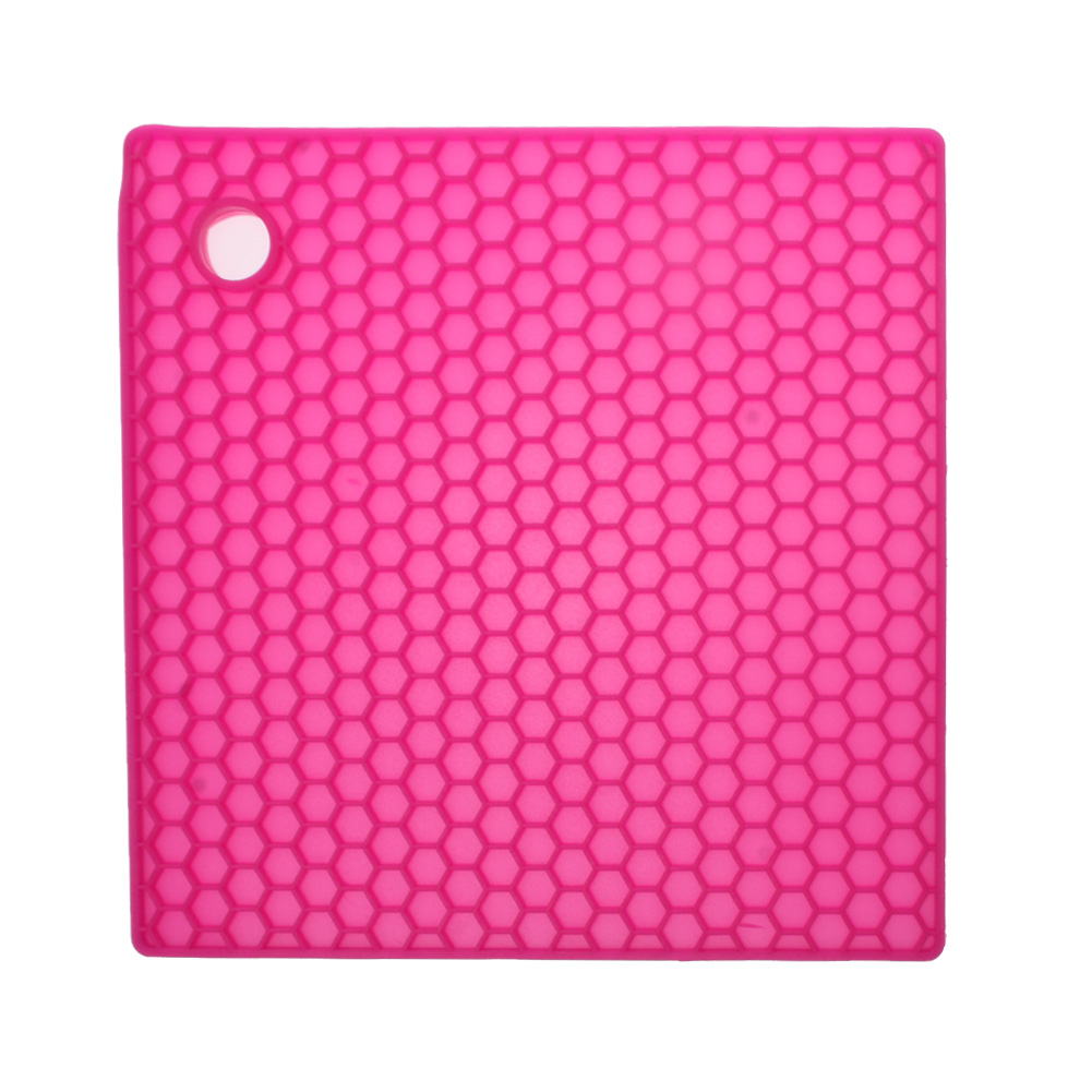 Hot Pink Honeycomb Silicone Hot Mat Unique Home Living