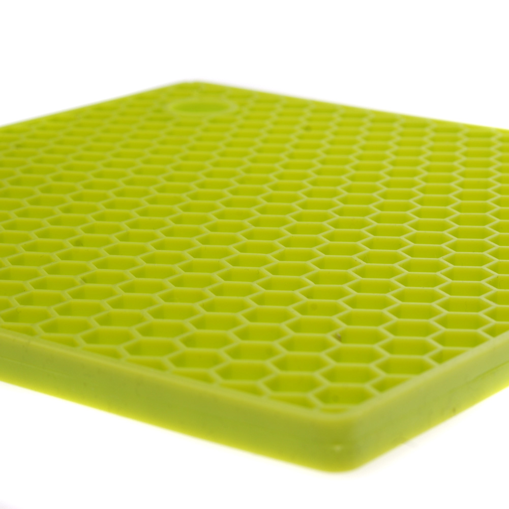 Lime Green Honeycomb Silicone Hot Mat Unique Home Living