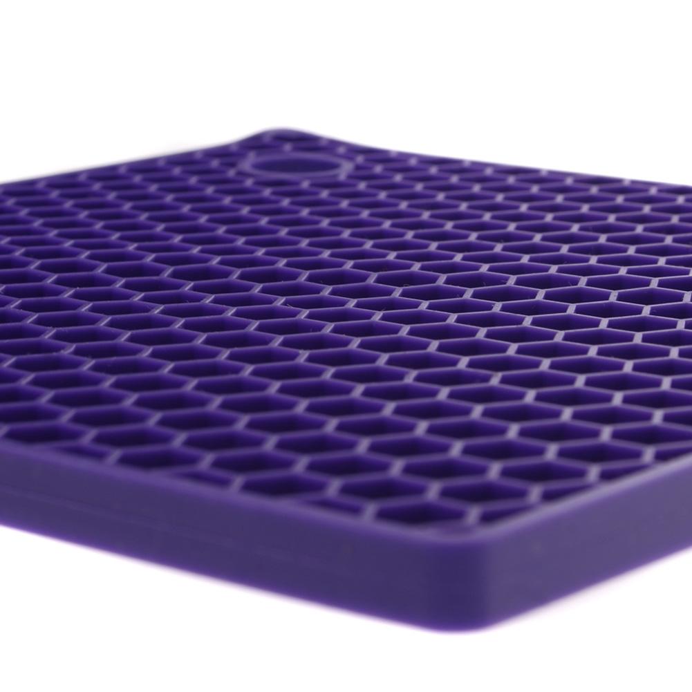 Purple Honeycomb Silicone Hot Mat Unique Home Living