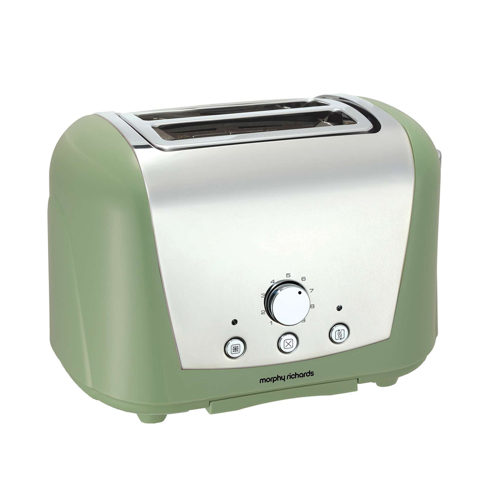morphy richards 222251 2 slice sage green toaster unique. Black Bedroom Furniture Sets. Home Design Ideas