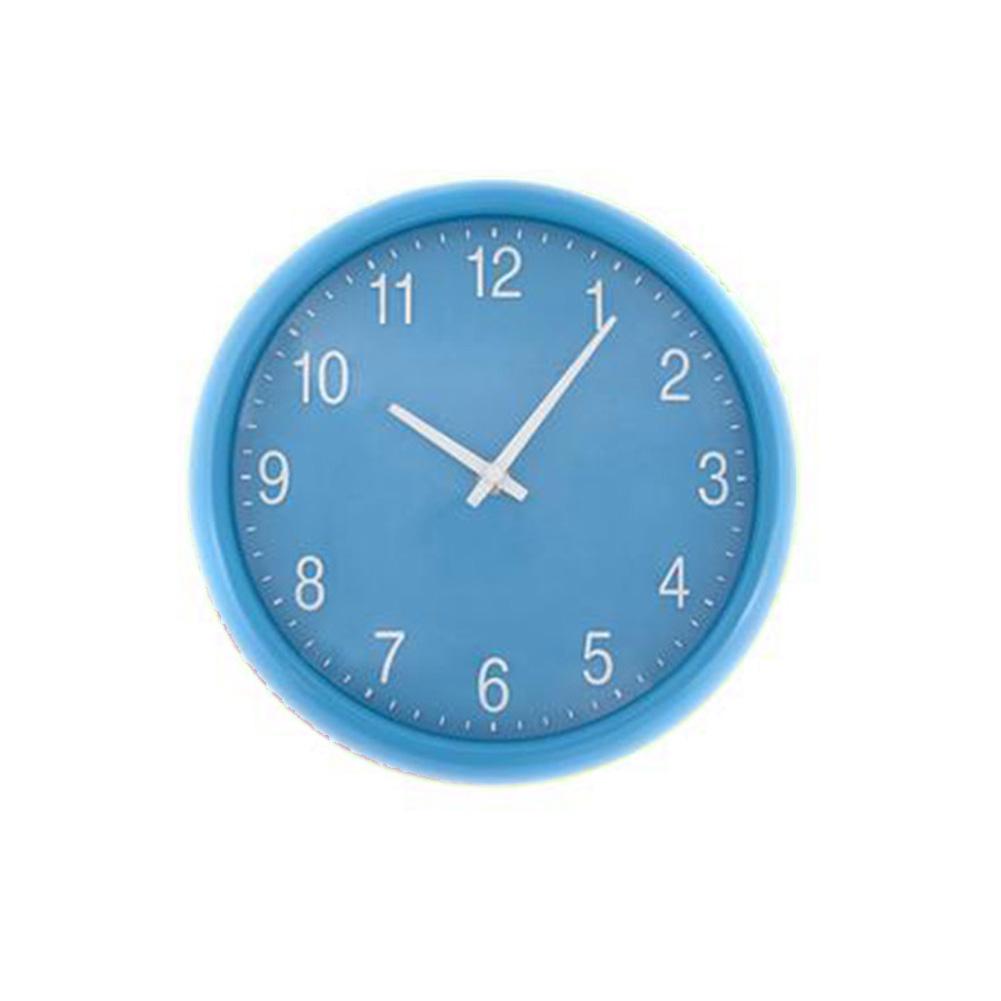 Blue quartz wall clock unique home living for Blue kitchen wall clocks