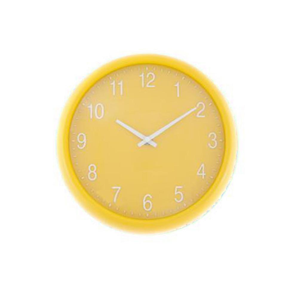 home home decor clocks wall art yellow quartz wall clock