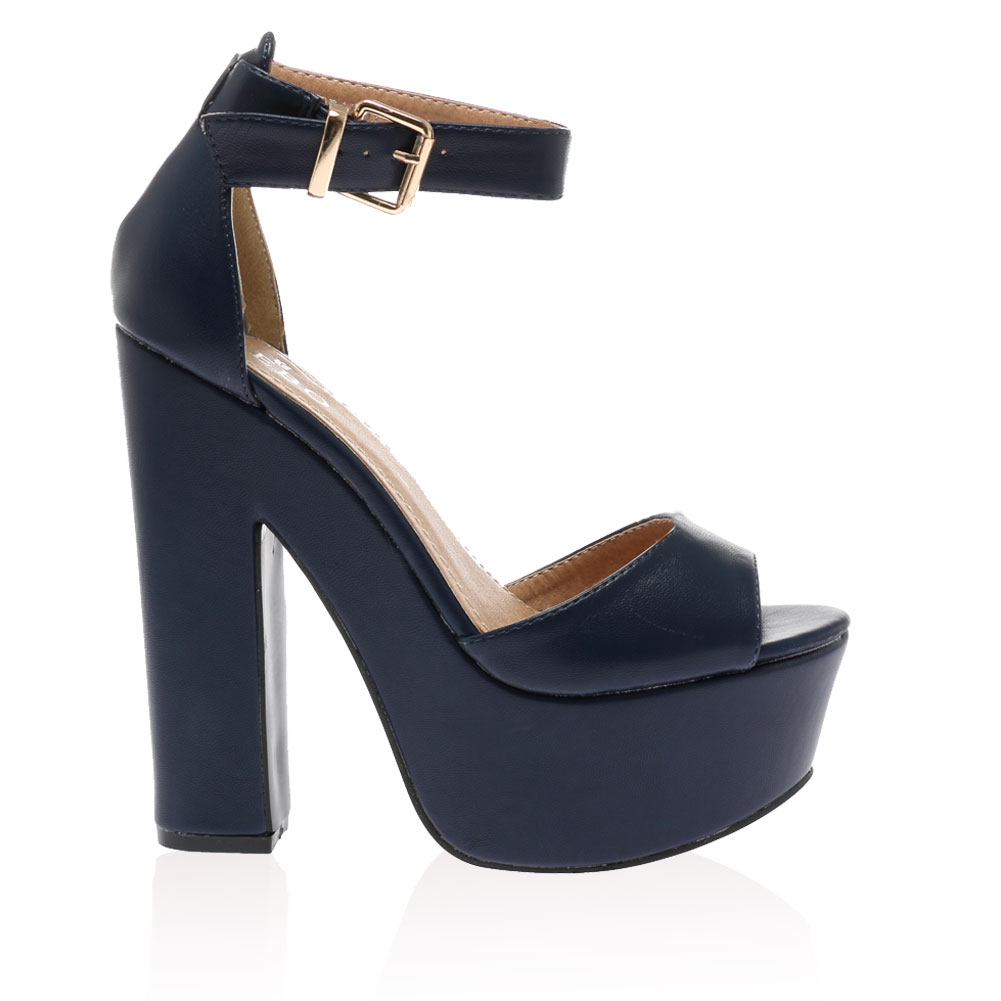 Navy Blue Heels With Ankle Strap - Is Heel