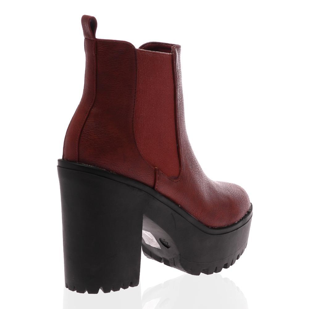 platform slip on high heel womens cleated sole