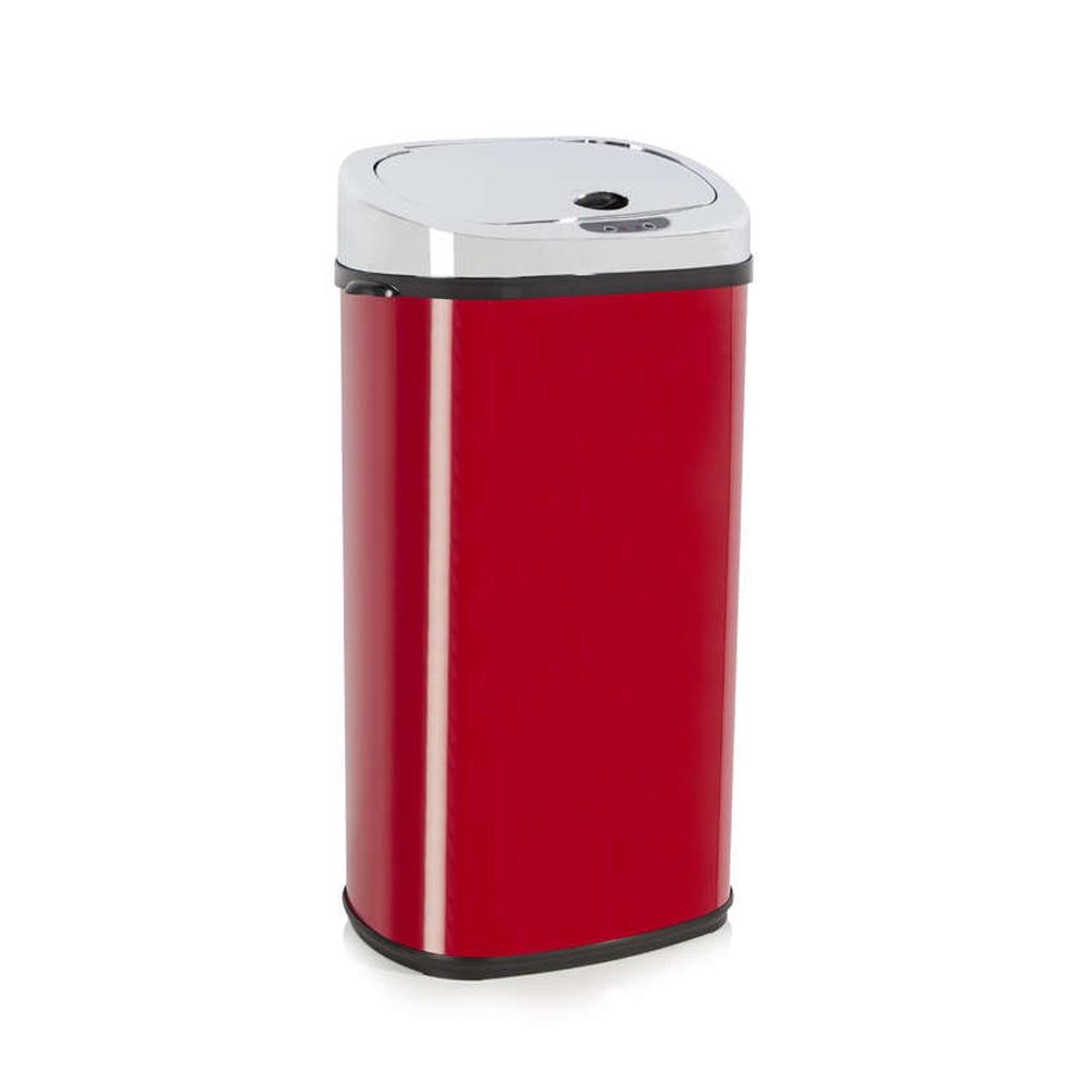 Red  Litre Sensor Bin Kitchen