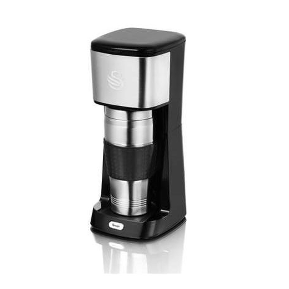 Coffee Maker That Fits Travel Mug : New Swan Coffee To Go SK32010N Thermal Cup Quick Drinks Travel Mug Coffee Maker eBay