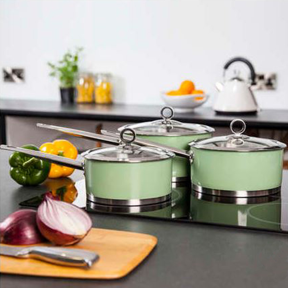 Morphy Richards Kitchen Set: Morphy Richards Sage 3 Piece Pan Set