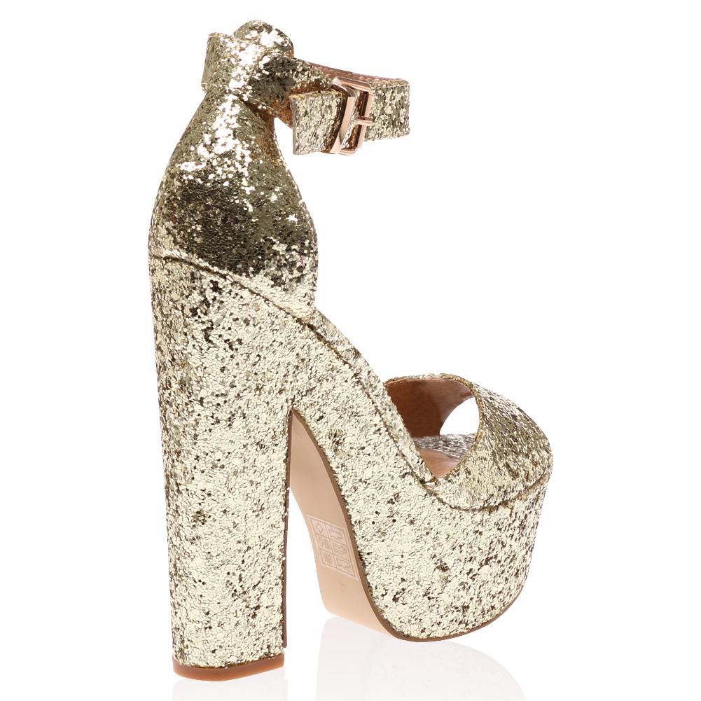 Chunky Gold Heels