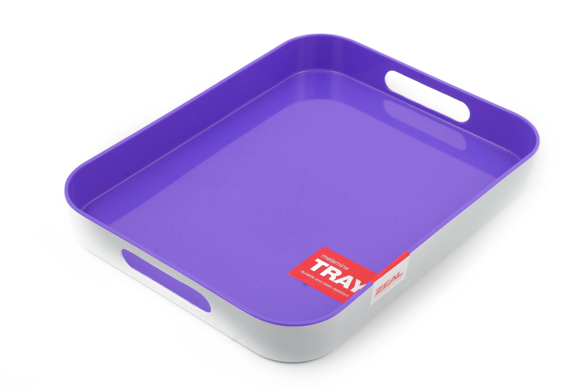 new zeal kitchen purple melamine dinner party snack food serving lap tray 33x26 ebay. Black Bedroom Furniture Sets. Home Design Ideas