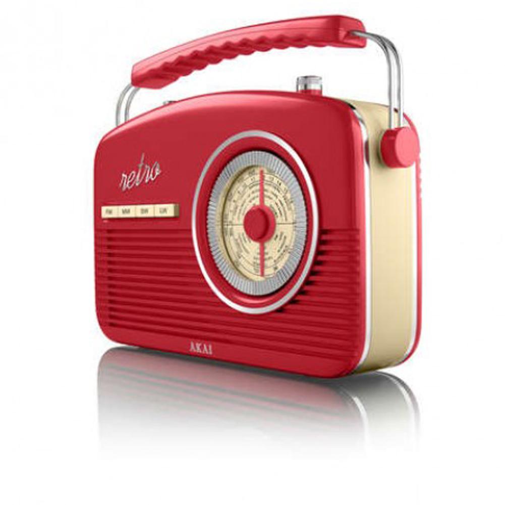 new akai a60010c retro vintage portable music 4 band stylish large red radio ebay. Black Bedroom Furniture Sets. Home Design Ideas