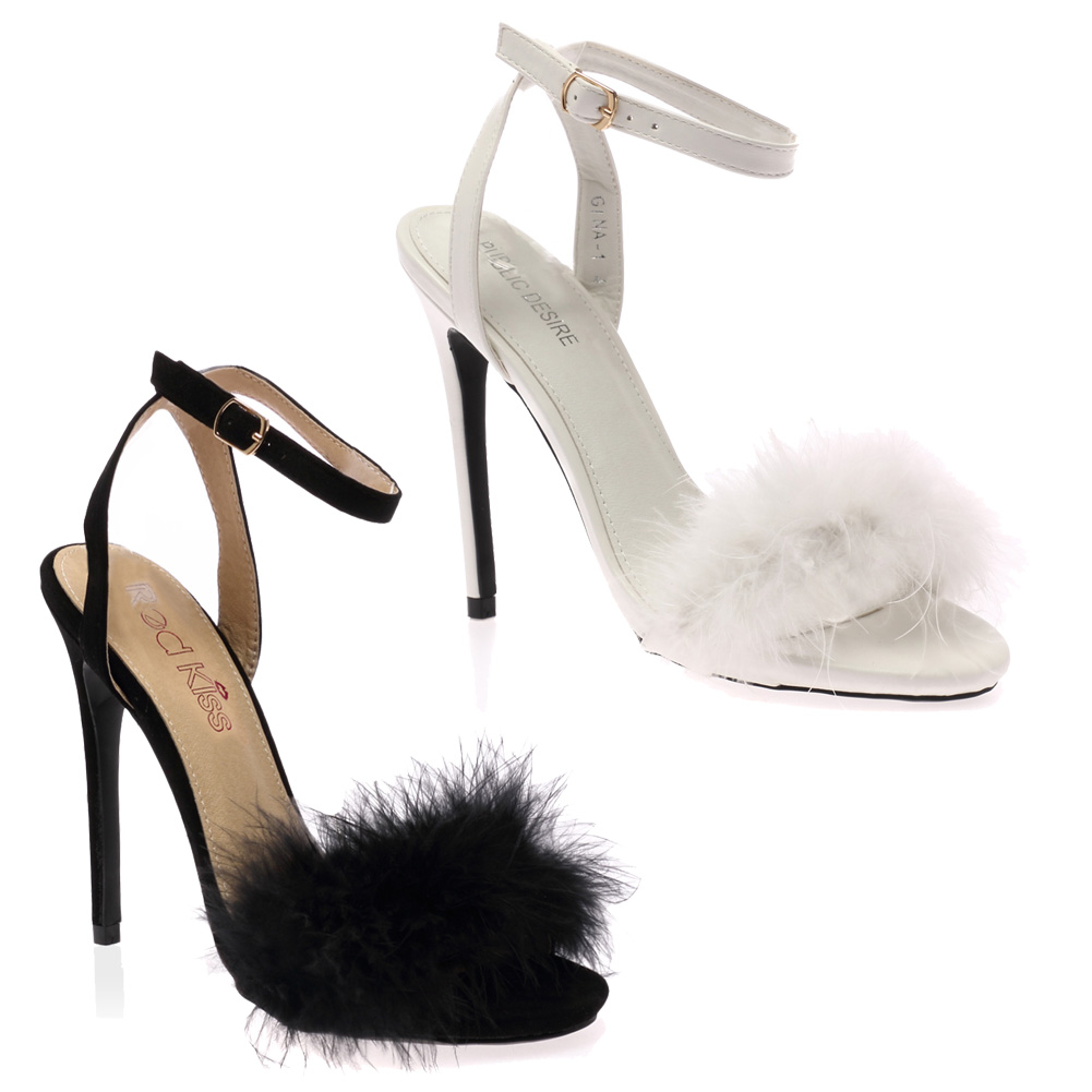 White Fur Platform Shoes