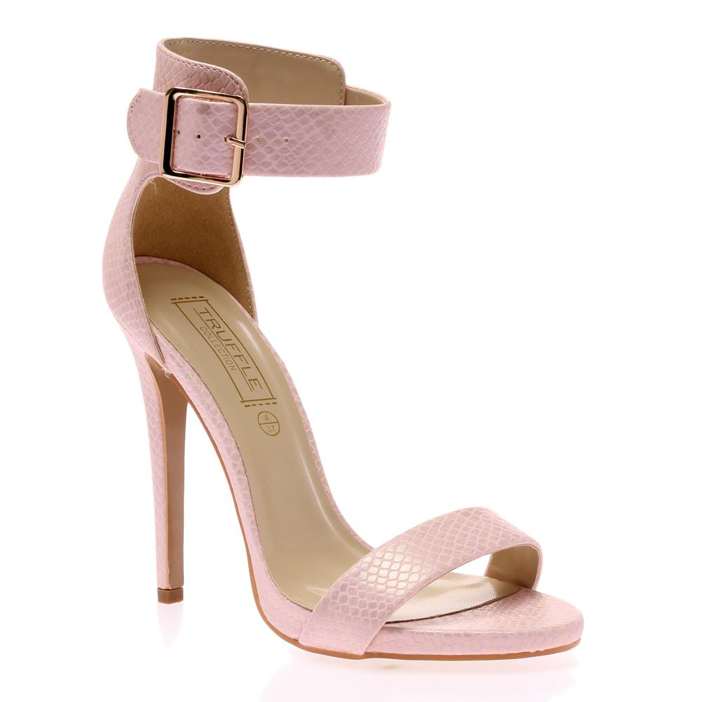 Ladies Strappy Womens Clubwear Buckled Strap Platform Heels Shoes ...