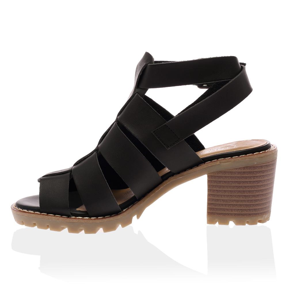 New Ladies Grip Sole Womens Open Toe Block Heel Strappy Sandals ...