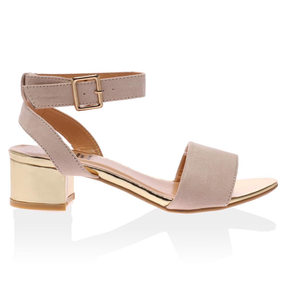 Rhinestone Block Heel Shoes