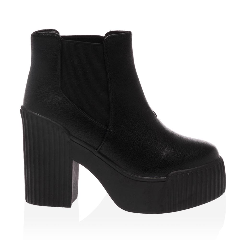 new chunky high heel womens platform chelsea ankle