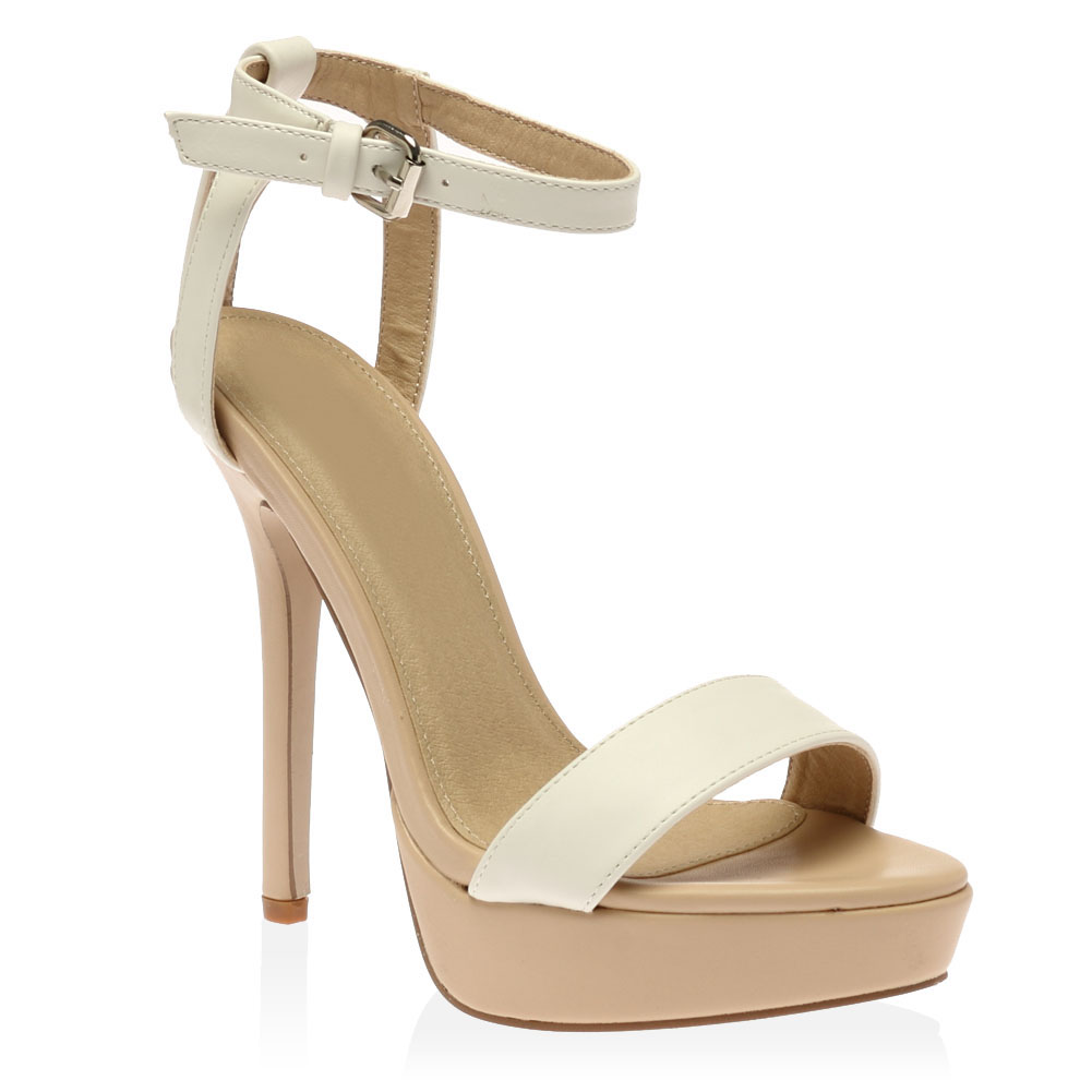 new strappy cut out womens buckle platform stiletto