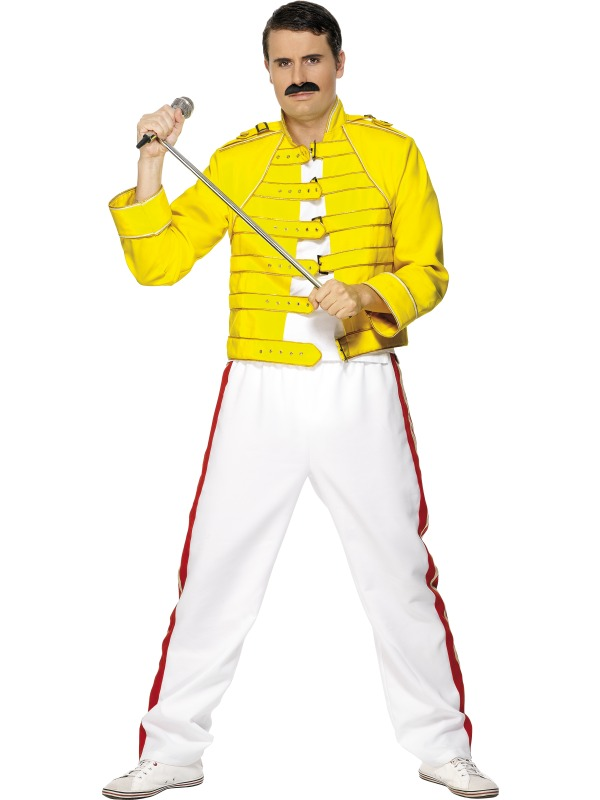 freddie mercury wembley costume yellow jacket size l ebay. Black Bedroom Furniture Sets. Home Design Ideas