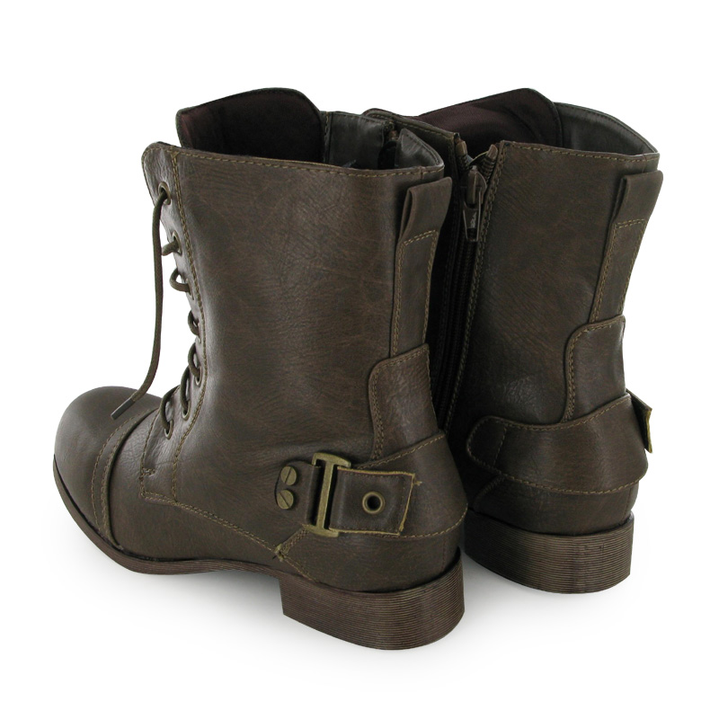 brown combat ankle boots size 12 6 ebay
