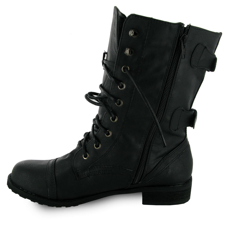 Brilliant Steve Madden Troopa 20 Boot Womens Combat Boots&ltp&gtLace It Up All The Way Or Tie It Low For A Looser Fit Around The Ankle&ltp&gtSide Zip Closure Leather  Perfect With Leggings Or Breezy Skirts, Our 08543R001 Timberland Womens