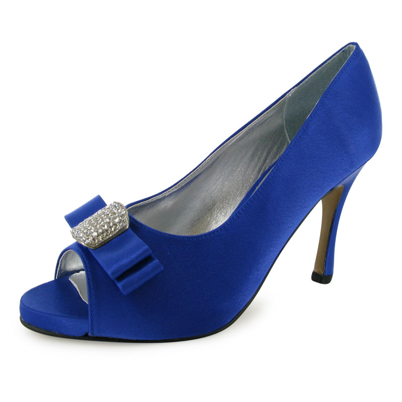 blue bridal wedding prom shoes size 3 8 bnib uk
