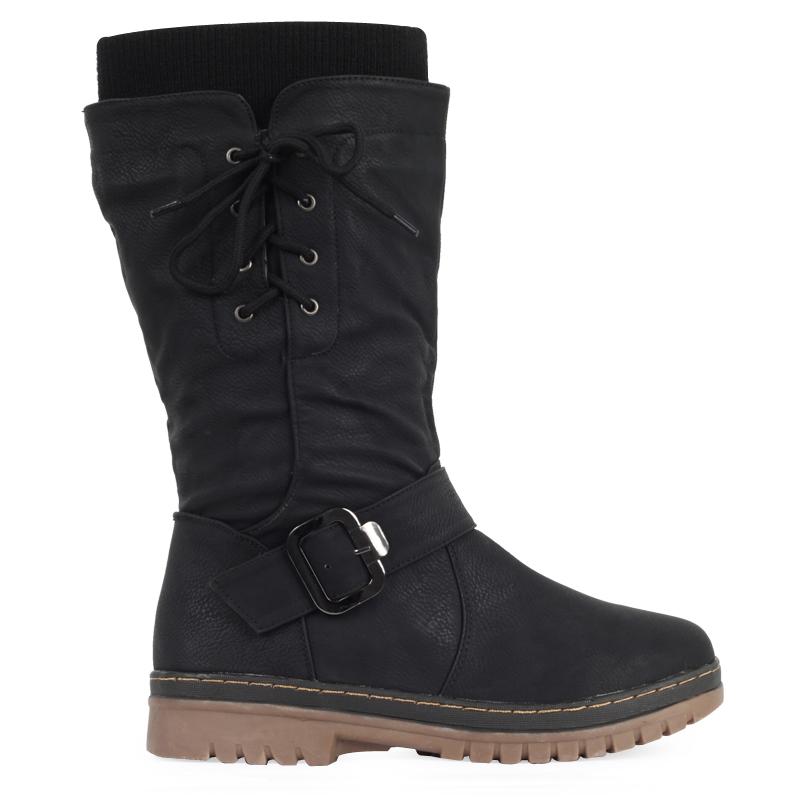 Awesome Khombu Alice Women Black Winter Boot Boots
